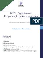 Algoritmos 01 - Conceitos Básicos