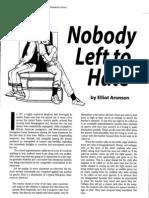 Nobody Left to Hate _ Aronson, Jigsaw