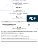IPASS INC 8-K (Events or Changes Between Quarterly Reports) 2009-02-23