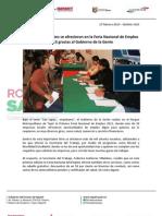 27-02-13 Boletin 1415 Más de mil vacantes se ofrecieron en la Feria Nacional de Empleo 2013 gracias al Gobierno de la Gente