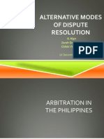 Alternative Modes of Dispute Settlement in the Philippines