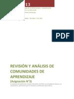 Asignación N°3 Revisión y Análisis de Comunidades de Aprendizaje