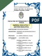 Monografía - Empresa Educativa y Gestión Educativa