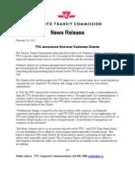 TTC Customer Charter 2013