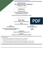 iGo, Inc. 8-K (Events or Changes Between Quarterly Reports) 2009-02-23