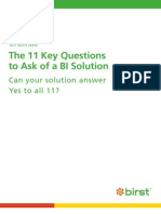 The 11 Key Questions to Ask of a BI Solution