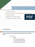 Slides 3 Non Uniform Flow in Open Channel