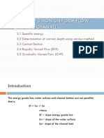 Slides 3 Non Uniform Flow in Open Channel