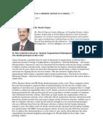 Harsh Chopra's Interview on Internal Organisational Disintegration
