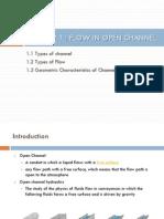 Slides 1 Flow in Open Channel