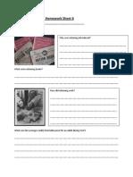 World War 2 Homework Sheet 6