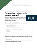 Personalizar Errores de Nuestro Apache2