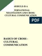 MODULE II a Intl. Negotiation Cross Cultural Dimensionc