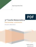 Funções - 3ª Tarefa Matemática