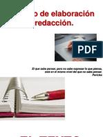 Proceso de elaboración y redacción