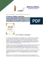 O Tetragrama (YHWH) Na Septuaginta