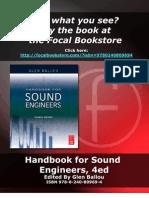 Handbook for Sound Engineers Sample