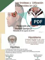 Hormonas tiroideas y  Utilización de Esteroides en UCI