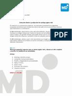 Cotizacion Web Mdmediadesign 2009