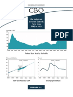 THE US BUDGET AND ECONOMIC OUTLOOK FOR  2013 to 2023 BY CBO -FEDERAL DEBT WILL STAY HIGH