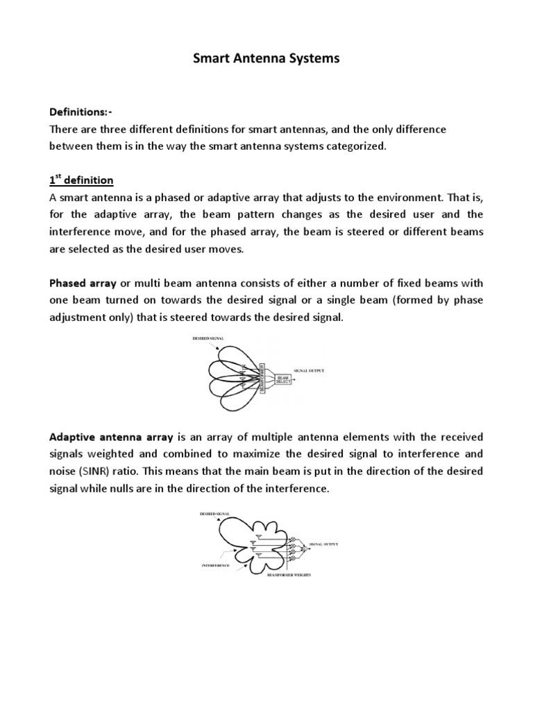 Smart Antenna Systems | Antenna (Radio) | Array Data Structure
