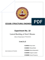 J2_Group_Exp10_Lateral Buckling of Steel I Beams