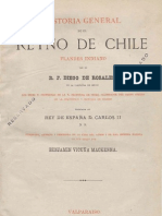 Historia General Del Reino de Chile (Tomo 1) Diego de Rosales.