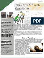 Newsletter Mar 13