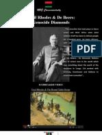 Cecil Rhodes and de Beers Genocide Diamonds