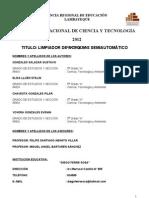 PROYECTO LIMPIADOR DE ACEQUIAS SEMIAUTOMÁTICO