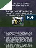 ACTUACION EN CASO DE UN ACCIDENTE DE TRÁNSITO