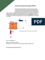 Esquema Electronico de Conexion Del Sensor CNY70