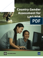 Country Gender Assessment for the Lao People's Democratic Republic