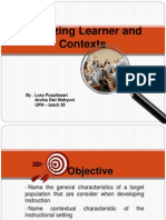 Analyzing Learner and Contexts - Dick n Carey