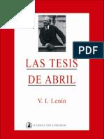 V. I. Lenin Las Tesis de Abril (1917).pdf