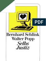 Schlink Bernhard - Selbs Justiz