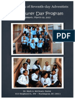 First Church of Seventh-day Adventist Adventurer Day Program