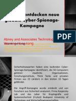 Forscher entdecken neue globale Cyber-Spionage-Kampagne