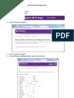 Proceso de Registro en línea
