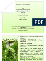 Laboratorio Farmacognosia Albahaca Angelica Garcia