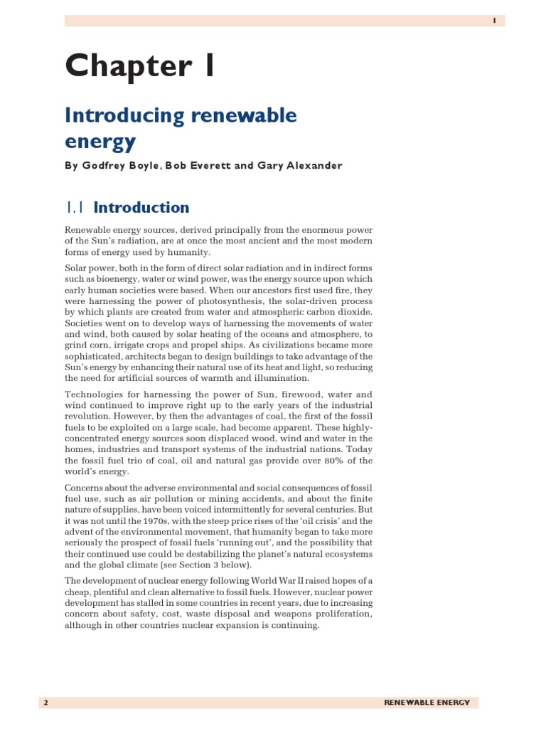Godfrey Boyle Chap01 | Renewable Energy | Electricity Generation