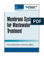Membrane Systems for Wastewater Treatment.