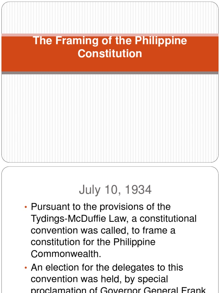 The Framing of the Philippine Constitution.ppt | Politics | Government