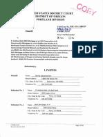 Amended Complaint Subramaniam v Beal, et al filed 1/14/13 in US District Court Portland Oregon