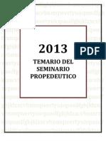Temario Del Seminario Propedeutico