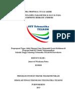 Pra Proposal Tugas Akhir STT Telematika Telkom Purwokerto