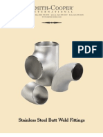 SCI Stainless BW Fittings 0709