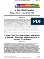 Female Courtship Strategies