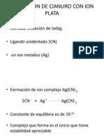 TITULACIÓN DE CIANURO CON ION PLATA