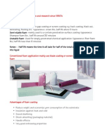 Foam Coating Process Review